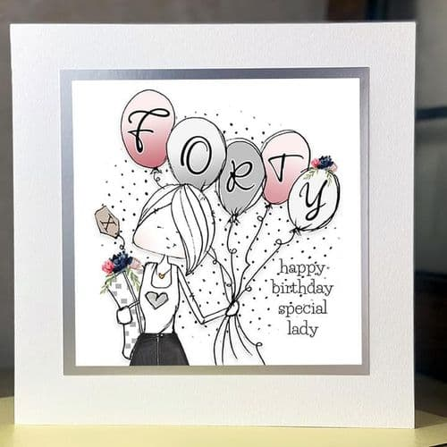 Tracey Russell - Delightful - Birthday Card - 40