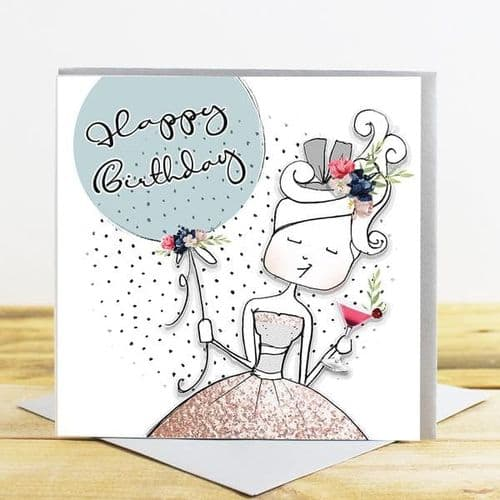 Tracey Russell - Delightful - Happy Birthday Card - (DF10)