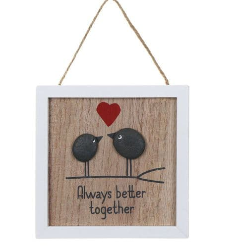 Transomnia - Always Better Together Pebble Plaque