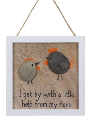 Transomnia - I Get By With Help - Pebble Plaque