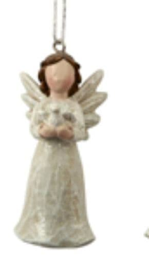 Transomnia - Mini Hanging Angel With Bird In Hands