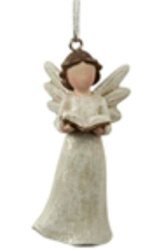 Transomnia - Mini hanging angel with book in hands