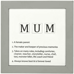 Transomnia - Mum letter tiles definition sign