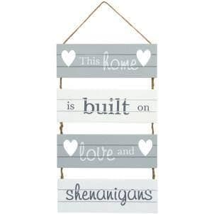 Transomnia - This house is built on..slatted sign