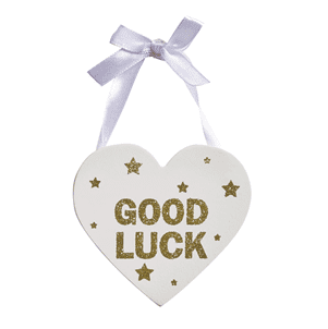 Transomnia - Wooden Glitter Heart - Good Luck