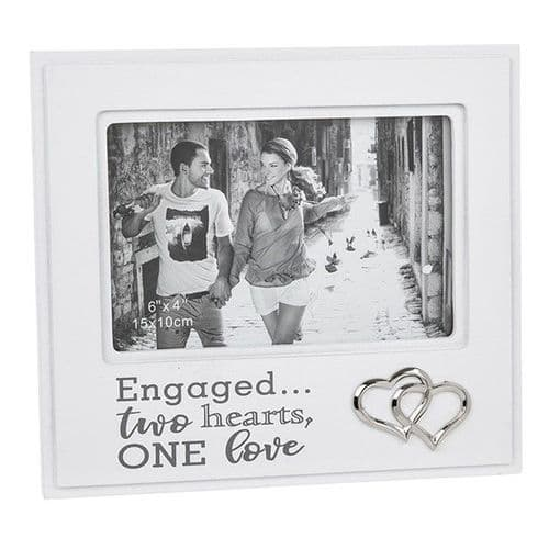 White & Grey Fond Words Frame - Engaged (234)