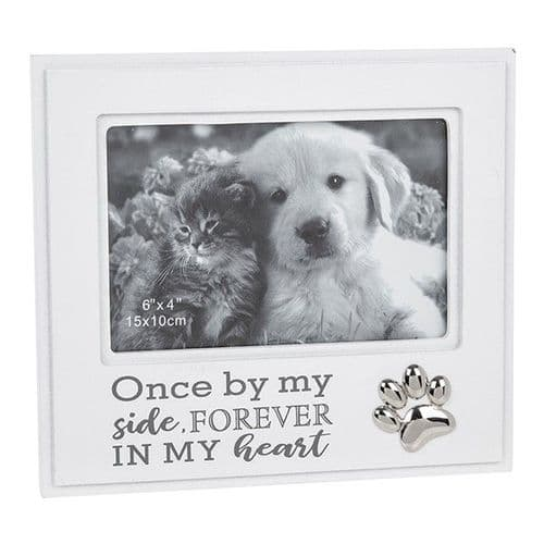 White & Grey Fond Words - Pet Remembrance Frame (232)