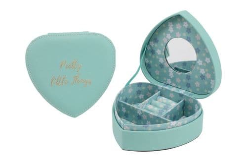 Willow & Rose - Teal Heart Jewellery Box - Pretty Little Things