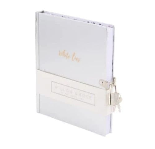 Willow & Rose - White Lies  Lock & Key Notebook