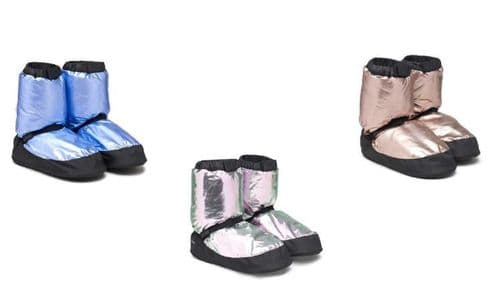 BLOCH Adult Warm Up Dance Booties Boots Irina and Max Limited Edition Metallic