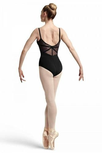 BLOCH Ladies Dance Camisole Leotard Floral Lace and Ribbon Panels Eyal L7727