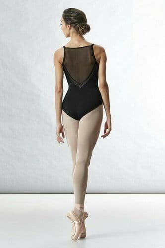 BLOCH Ladies Dance Camisole Leotard with Mesh and Motif Back L8777 Kora