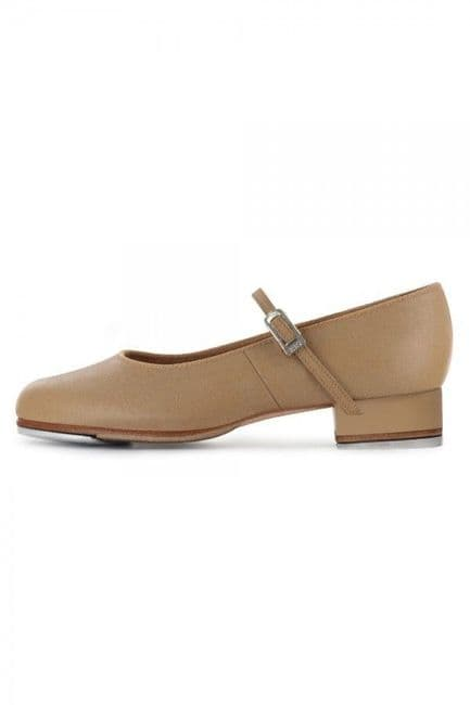 BLOCH Ladies Tap Shoes Tap-On in Tan Low Heel Leather Upper S0302L