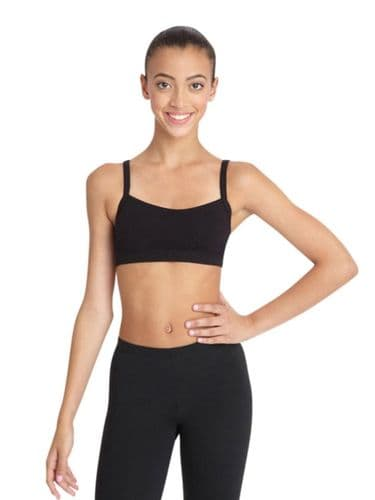Capezio Bra Top with BraTek® CC510 Supportive Bra Liner Dance Sports - Black