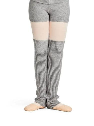 "CAPEZIO Girls Dance Ribbed Knit Legwarmers 18"" Warm Up CK10955C"