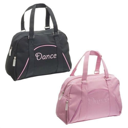 Capezio Girls Soft Dance Bag Bowling Style Dance Embroidery B46C Pink or Black