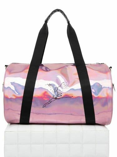 Capezio Legacy Duffle Dance Kit Bag Holdall Pink Holographic B219