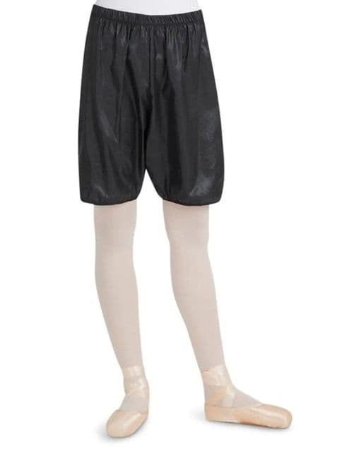 Capezio Rip Stop Warm Up Shorts Dance Ballet Nylon Black 10110
