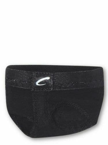 Foot Undeez Barely There footUndeez™ Spin with Ease Foot Thongs Footsies Black