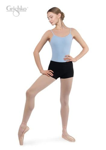 GRISHKO Ladies Dance Micro Shorts Hotpants Microfibre Black