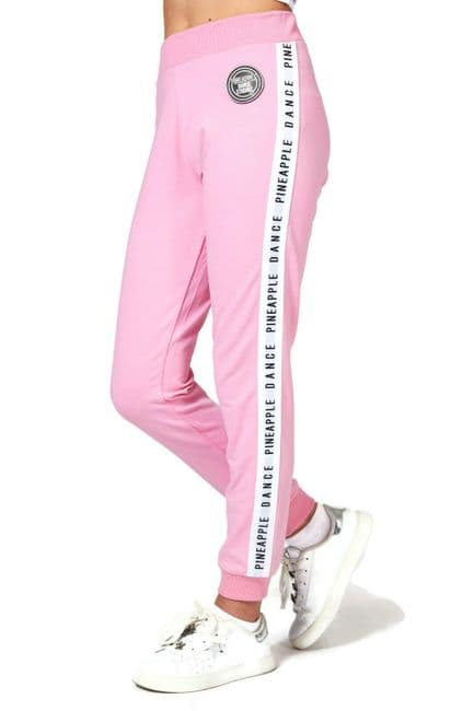 PINEAPPLE DANCEWEAR Girls Dance Stripe Jacquard Joggers Sweat Pants Pink