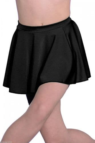 Roch Valley Circular Dance Skirt Nylon/Lycra Black Elasticated Waist LCSS
