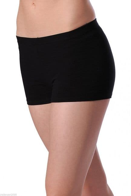 Roch Valley Hipster Style Shorts Hotpants Cotton Lycra Black Dance Gym Fitness