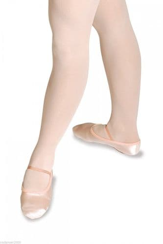 Roch Valley PINK SATIN BALLET SHOES Full Suede Sole Infant Size 5 to Adult 8