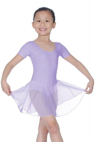 Roch Valley Rebecca Dance Skirted Cotton Leotard Attached Georgette Skirt Lilac