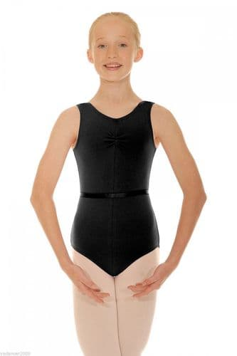 Roch Valley Sleeveless Tank Leotard CSheree COTTON Lycra Black Dance RAD Uniform From £11.99 UK delivered price