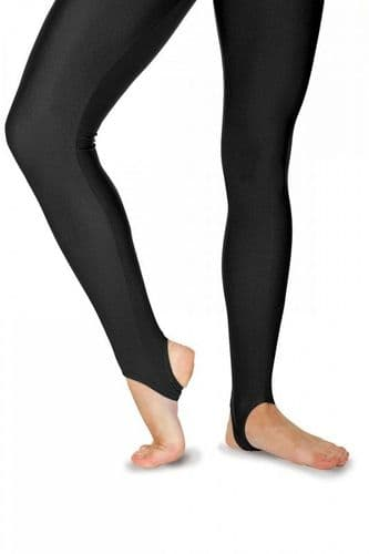 Roch Valley Stirrup Tights Leggings Nylon Lycra Black-Dance Gymnastics Twirling
