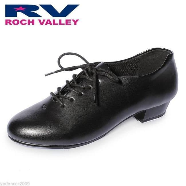 Roch Valley Unisex Oxford Tap Shoes Fitted Heel AND Toe Taps Child & Adult Sizes