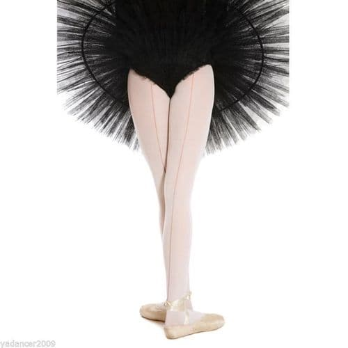 SILKY BALLET DANCE TIGHTS with Back Seam Seamed Seamer Full Foot Pink Girls