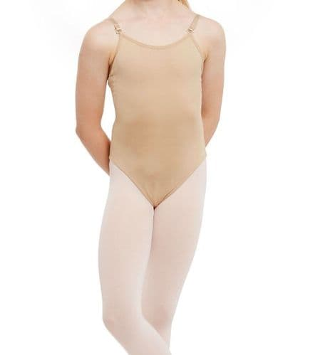 SILKY DANCE GIRLS Seamless Camisole Leotard Undergarment Underlayer Nude