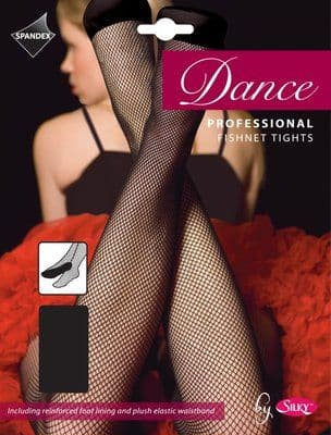 SILKY PROFESSIONAL FISHNET DANCE TIGHTS FULL FOOT Adult Sizes Black or Toast