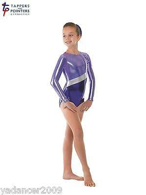 Tappers and Pointers Gymnastics Long Sleeved Leotard Sugar Plum Gym10 Free UK delivery