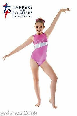 Tappers and Pointers Gymnastics Sleeveless Leotard Pink/Cosmic Gym17 Free UK delivery