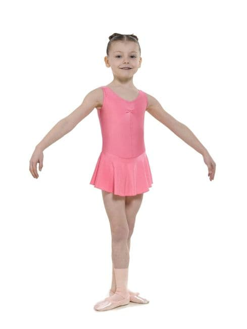 Tappers and Pointers Regulation Skirted Leotard Raspberry Ruched Front ISTD NATD