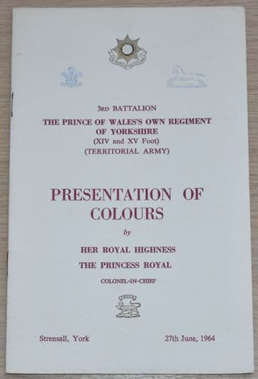 3rd Battalion The Prince of Wales's Own Regiment of Yorkshire Presentation of Colours 27th June 1964