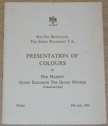 4th/5th Battalion The Essex Regiment T.A. Presentation of Colours, 25th July 1964