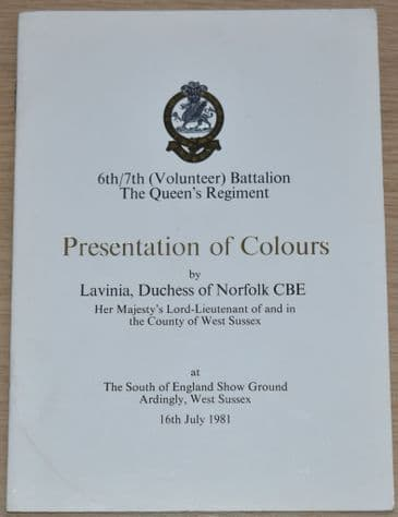 6th/7th (Volunteer) Battalion The Queen's Regiment Presentation of Colours, 16th July 1981