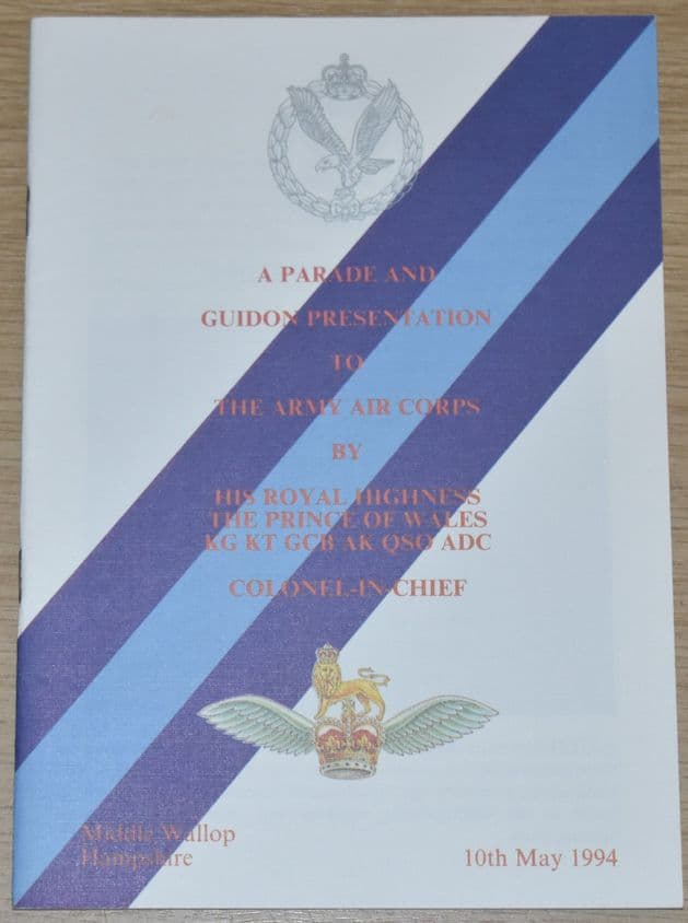 A Parade and Guidon Presentation to the Army Air Corps, 10th May 1994