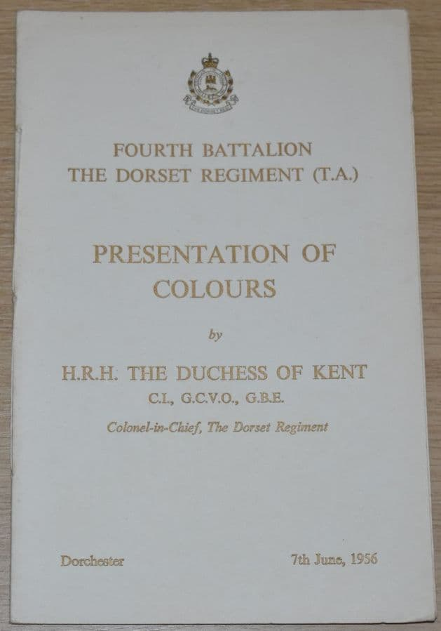 Fourth Battalion The Dorset Regiment (TA) Presentation of Colours, 7th June 1956