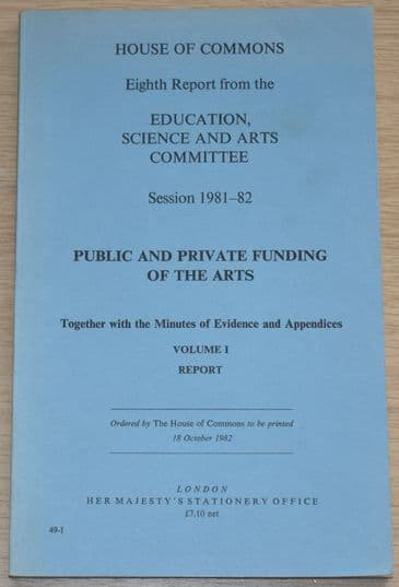 House of Commons Eighth Report from the Education Science & Arts Committee 1981-82