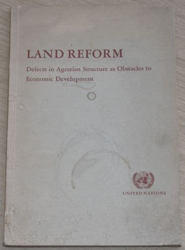 Land Reform - United Nations Report 1951
