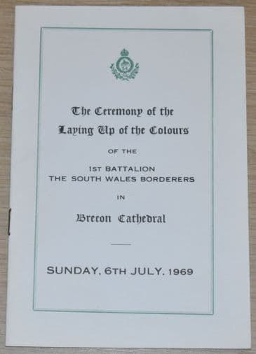 Laying Up of the Colours of the 1st Battalion The South Wales Borderers, July 1969