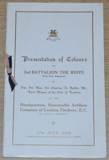 Presentation of Colours to 2nd Battalion The Buffs (East Kent Regiment), 27th July 1928
