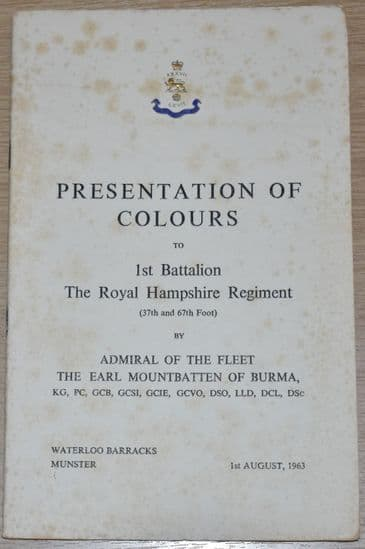 Presentation of Colours to the 1st Battalion The Royal Hampshire Regiment, 1st August 1963