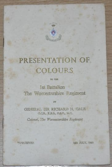 Presentation of Colours to the 1st Battalion The Worcestershire Regiment, 16th July 1960
