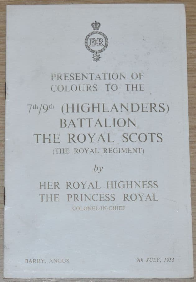 Presentation of Colours to the 7th/9th (Highlanders) Battalion The Royal Scots, 9th July 1955